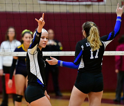 11/14/2018 Mike Orazzi   Staff Bristol Eastern's Olivia Beaudoin (4) during the Class L Semifinal State Girls Volleyball Tournament held at Windsor High School Wednesday night.