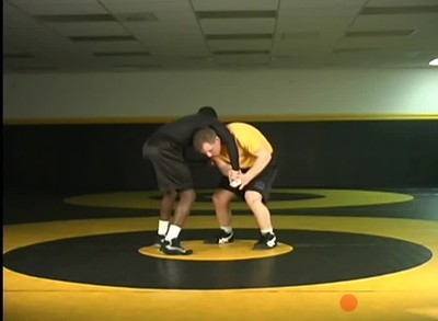 Defending the front headlock- attack chin hand