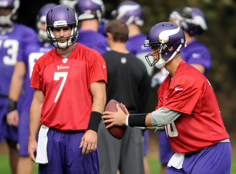 . <p><b> Steelers vs. Vikings (+2½):</b>  <p>Vikings quarterback Christian Ponder�s status is �uncertain� for Sunday�s game in London because of his suddenly detected rib injury. The news was roundly cheered by Minnesota fans who appear to have forgotten that Matt Cassel sucks just as badly. <p>Pick: <b>Steelers by 7</b> <p>     (Pioneer Press: Chris Polydoroff)