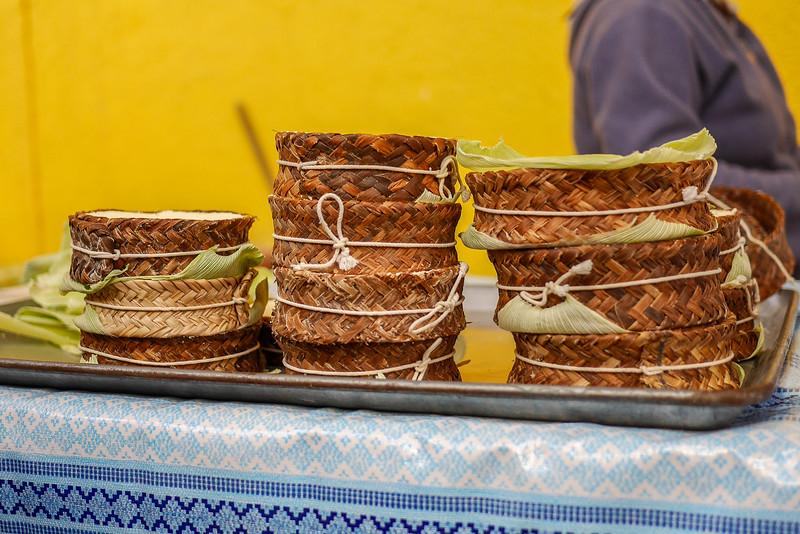 Fresh cheese at the Teotitlan morning market