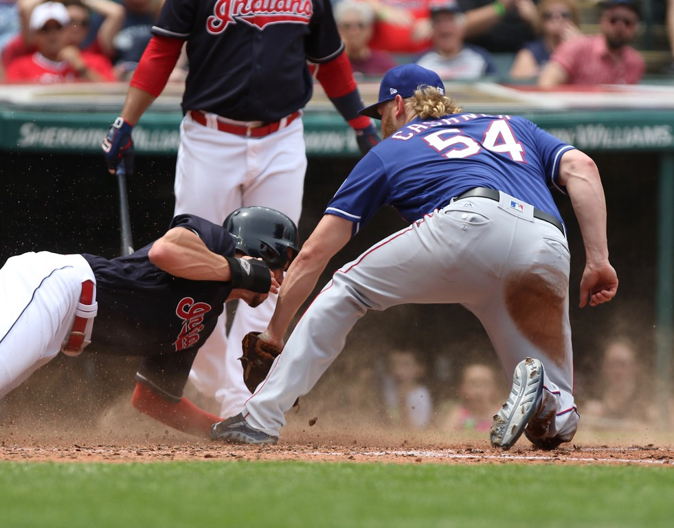. Tim Phillis - The News-Herald The Indians defeated the Rangers, 5-1, on June 29 at Progressive Field.