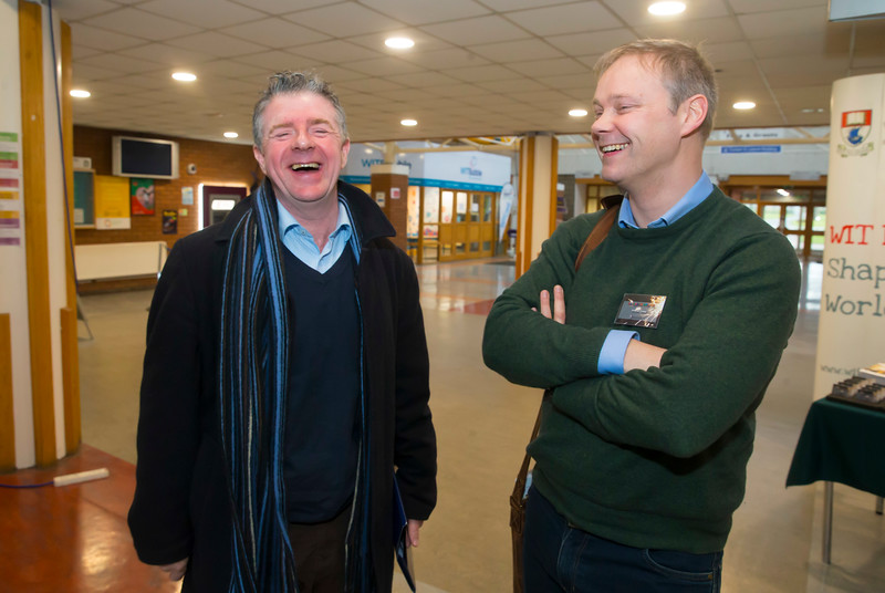 22/02/2018. Research Sparks in Waterford Institute of Technology. Pictured are  Patrick Lynch and Brian Casey. Picture: Patrick Browne