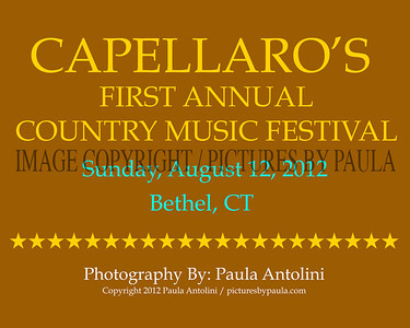 CAPELLARO'S FIRST ANNUAL COUNTRY MUSIC FESTIVAL ~  Capellaro's Grove, Bethel, CT ~ August 12, 2012