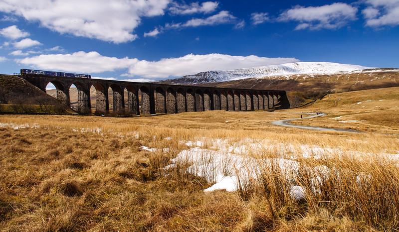 Northern Rail train on Ribblehead Viaduct