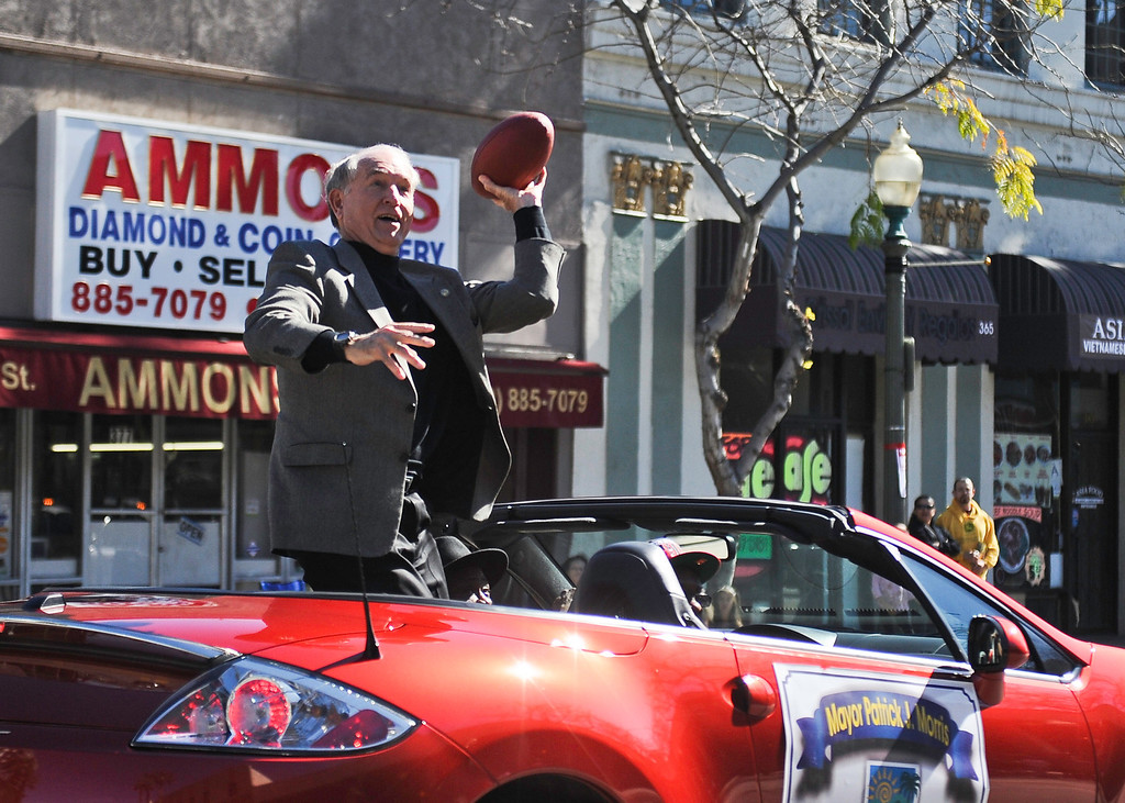 . San Bernardino Mayor Patrick Morris. The San Bernardino Black Culture Foundation holds its 43rd annual Black History Parade in downtown San Bernardino on Saturday, Feb. 4, 2012. (Rachel Luna / Staff Photographer)