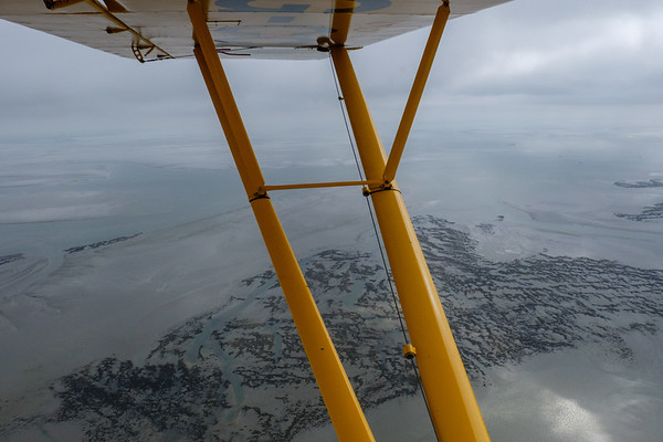 Flying the Cub to the Wadden islands, (Netherlands/Germany)