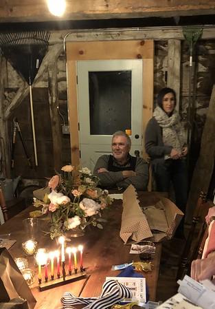 Early Hanukkah at Scott & Stacy's