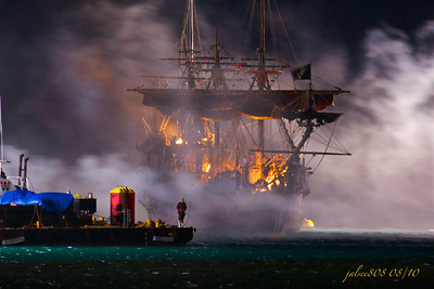On Stranger Tides Filming Set