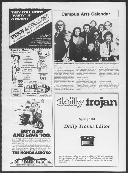 Daily Trojan, Vol. 94, No. 59, December 01, 1983