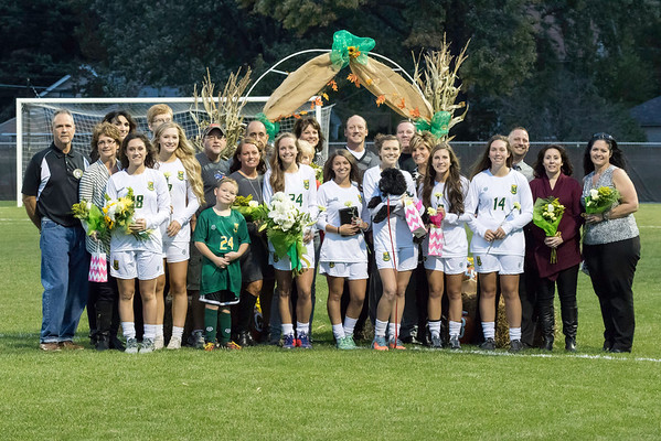 Amherst Girls Soccer Senior Night