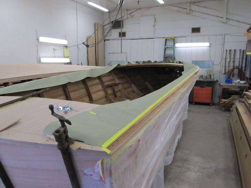 Rear starboard view of deck ready to glue cover board in place.
