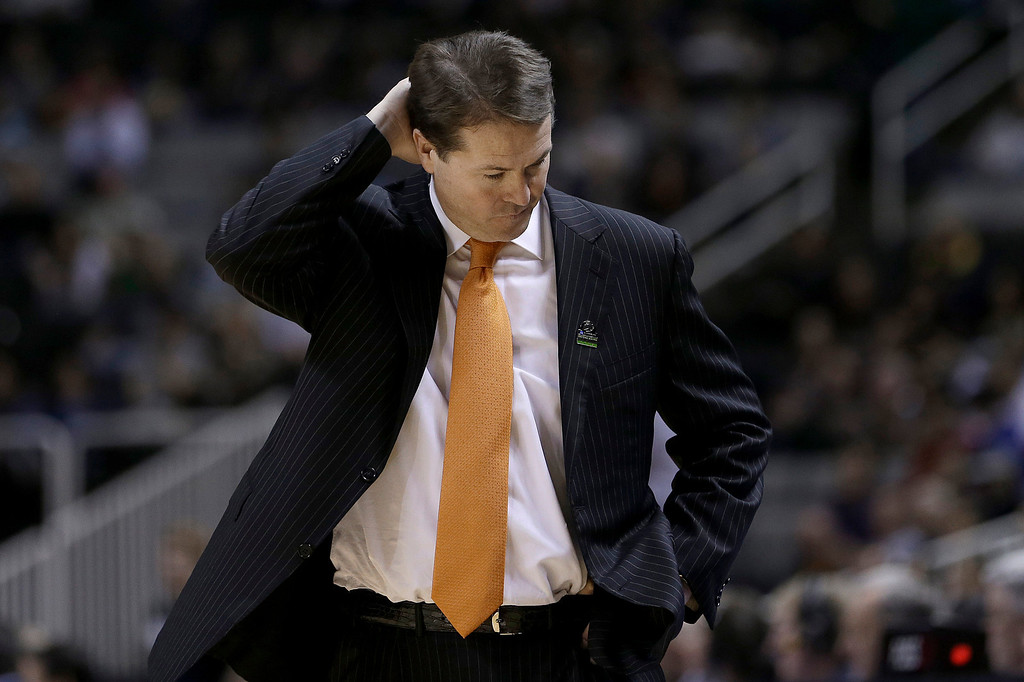 . Oklahoma State coach Travis Ford walks on the sideline during the second half of a second-round game in the NCAA men\'s college basketball tournament against Oregon in San Jose, Calif., Thursday, March 21, 2013. Oregon won 68-55. (AP Photo/Ben Margot)
