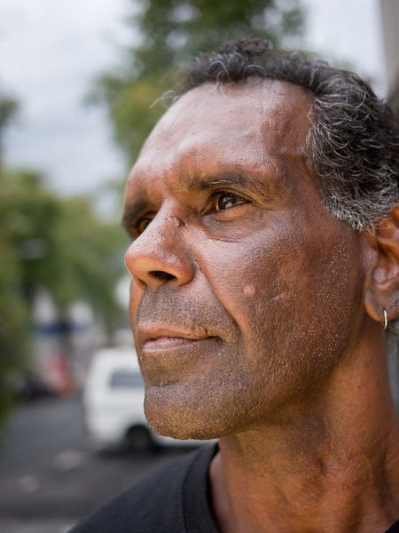 Aboriginal Australian Man in Profile