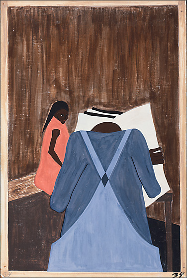 "Jacob Lawrence, ""The Migration of the Negro"" #34 (1941)"