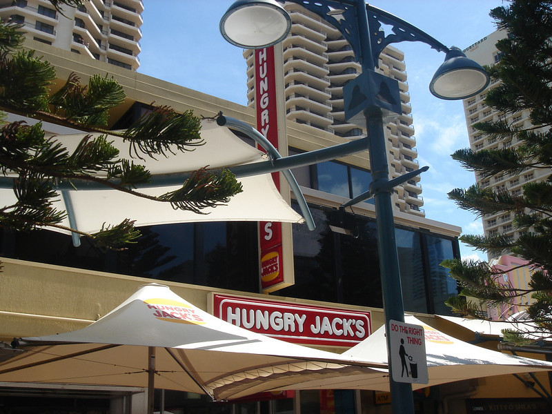 Burger King is called Hungry Jack's in Aussie