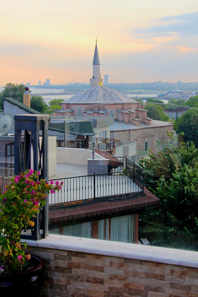 Little Aya Sofya from our hotel rooftop