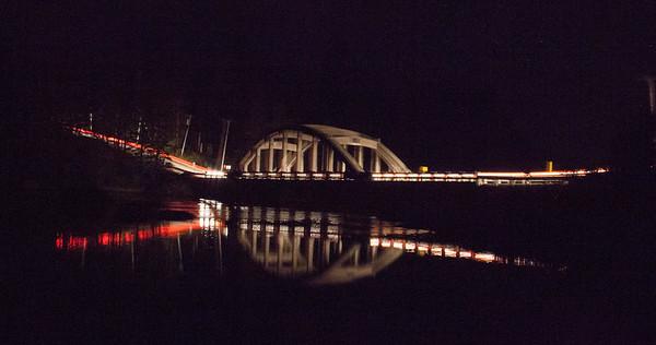 Falls Bridge at Night