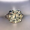 1.88ctw Platinum Filigree Solitaire Ring by C.D. Peacock, GIA S-T, VS 5