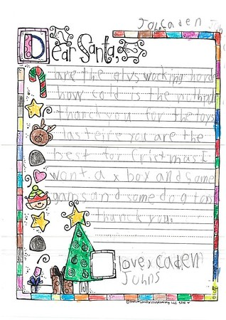Letters to Santa, Mrs. Perez first grade, 12/8/2017
