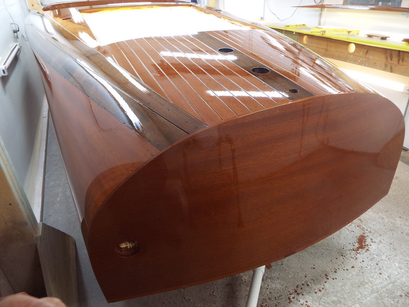 Rear port view with coat number six applied.
