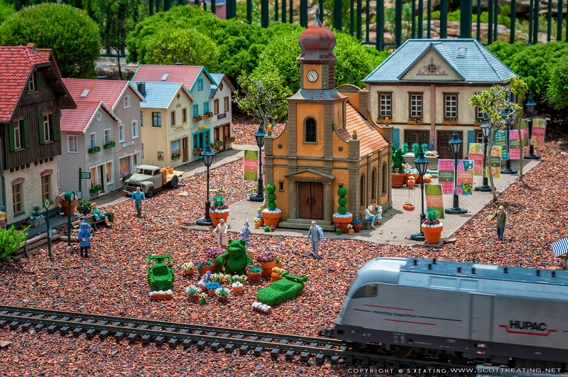 Miniature Train at the Germany Pavilion during the 2012 Flower & Garden Festival - EPCOT