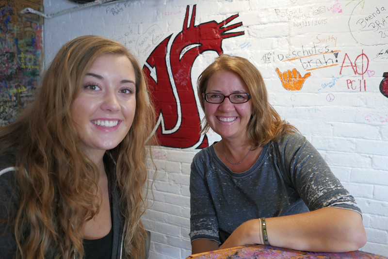 Emma and Mom at The Coug.