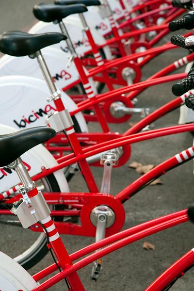 Bicicletas de Bicing, servicio municipal de transporte público, Barcelona