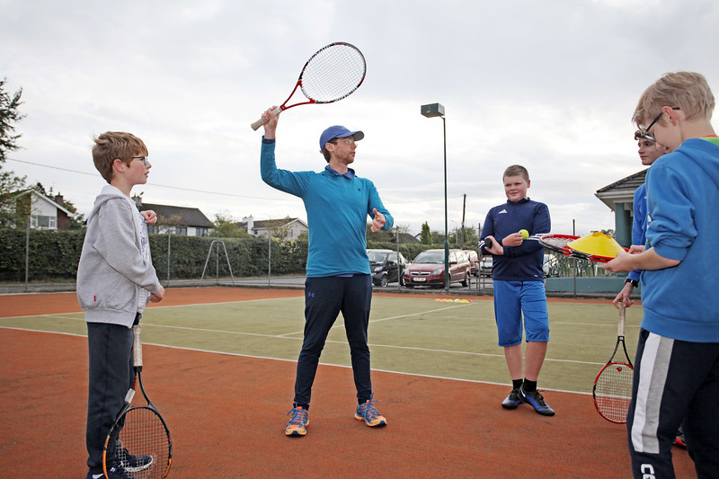 New coaching sessions at Tullamore Tennis Club with coach Bryan Stewart  Picture: Niall O'Mara  04th September 2018