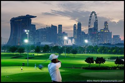 Golfer à Singapour