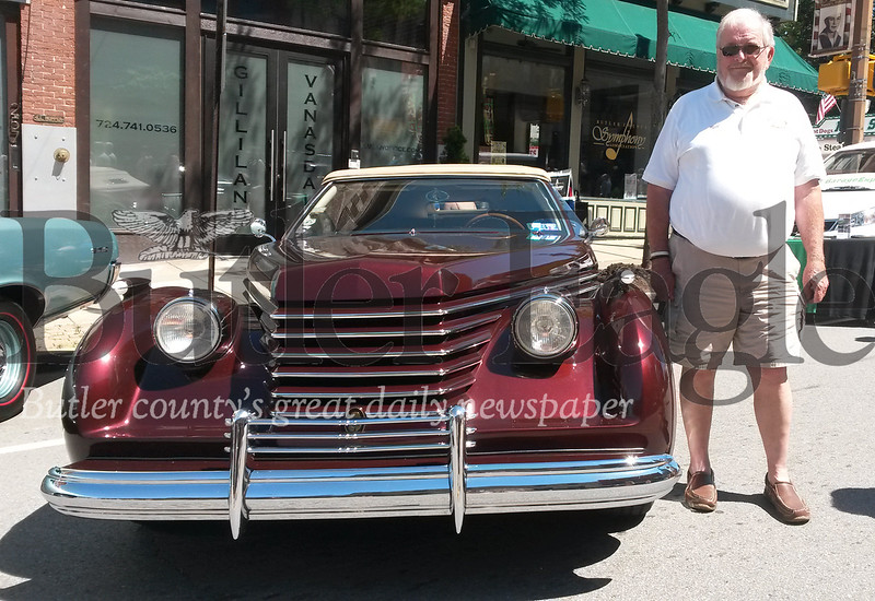 "Bill Kingwell of Munhall in Allegheny County brought his custom ""Alti"" to the 25th annusl Cruise-A-Palooza in Butler Sunday."