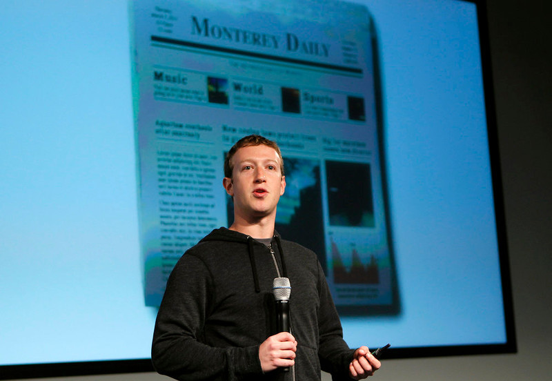 . Facebook CEO Mark Zuckerberg speaks during a media event at Facebook headquarters in Menlo Park, California March 7, 2013. REUTERS/Robert Galbraith