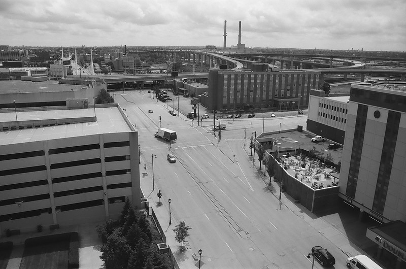 Unedited 35mm Black and White Film Proofs of Milwaukee 7