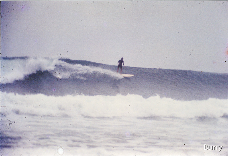 Riding my Sid  Madden shaped Sunset Surfboard  at The Boneyard !