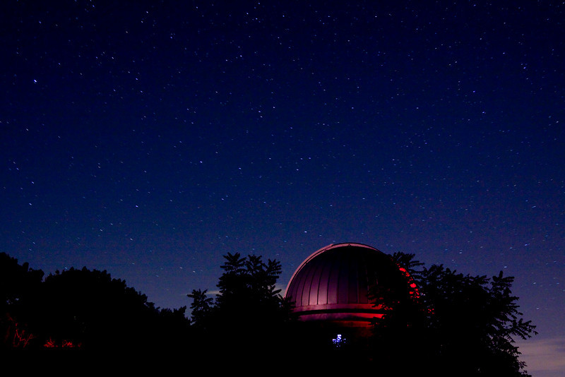 Custer Observatory, Southhold, New York - Perseid Meteor Shower event.  08/14/2010