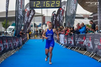 Cardiff Triathlon - Elite Women Finish Pictures