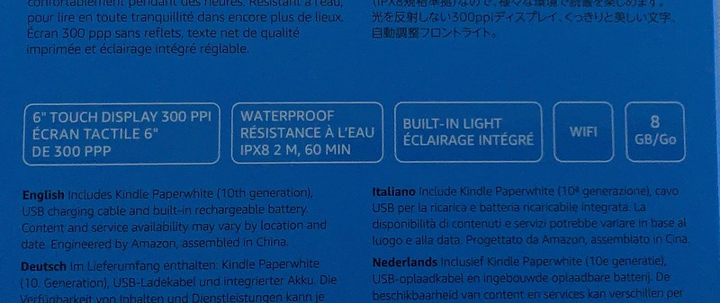 The Amazon Kindle Paperwhite is water proof too