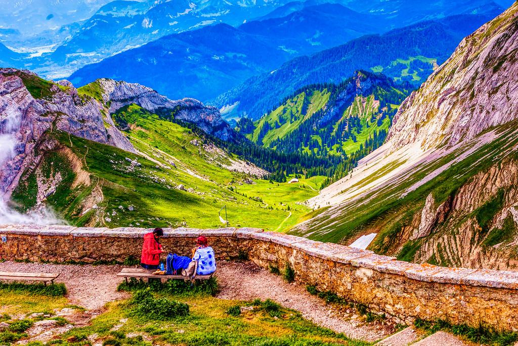 瑞士卢塞恩(Lucerne),登高望远