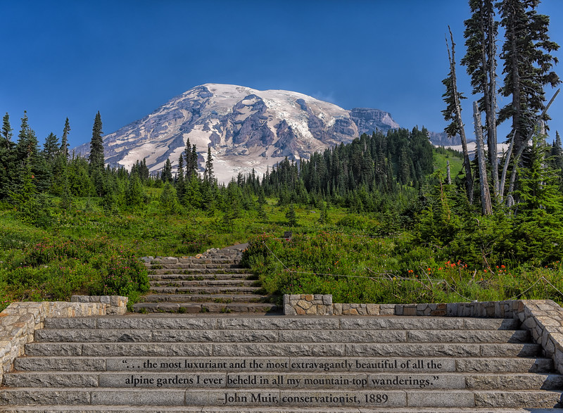 John Muir's Mt. Rainier Stair Quote