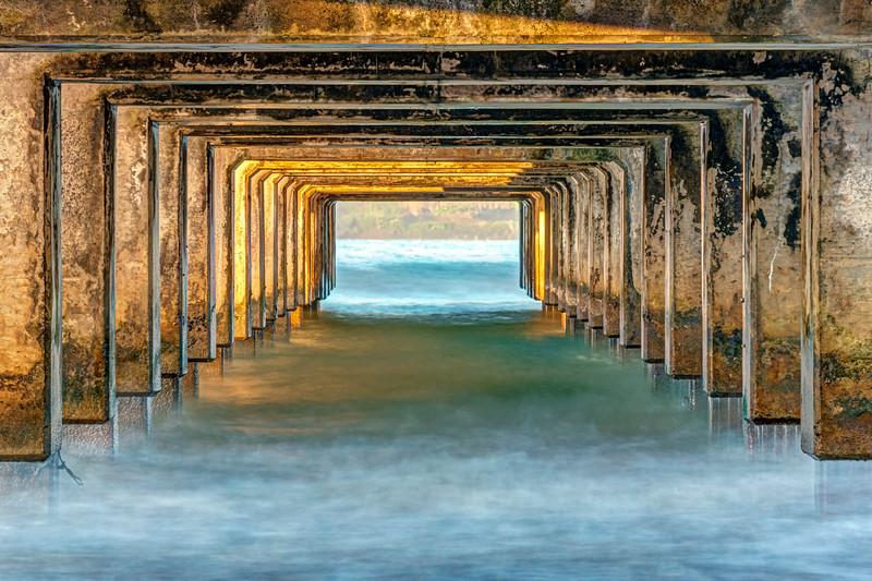 Under Hanalei Pier 1