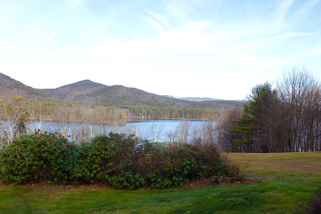 view of Squam Lake from the Manor on Golden Pond in Holderness, New Hamsphire
