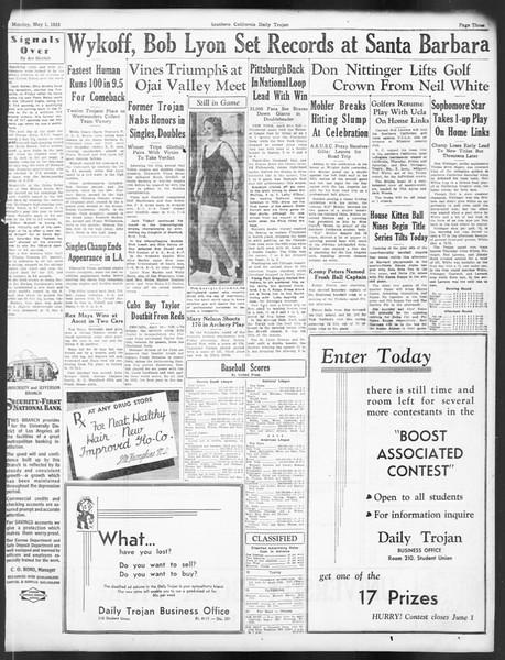 Daily Trojan, Vol. 24, No. 133, May 01, 1933