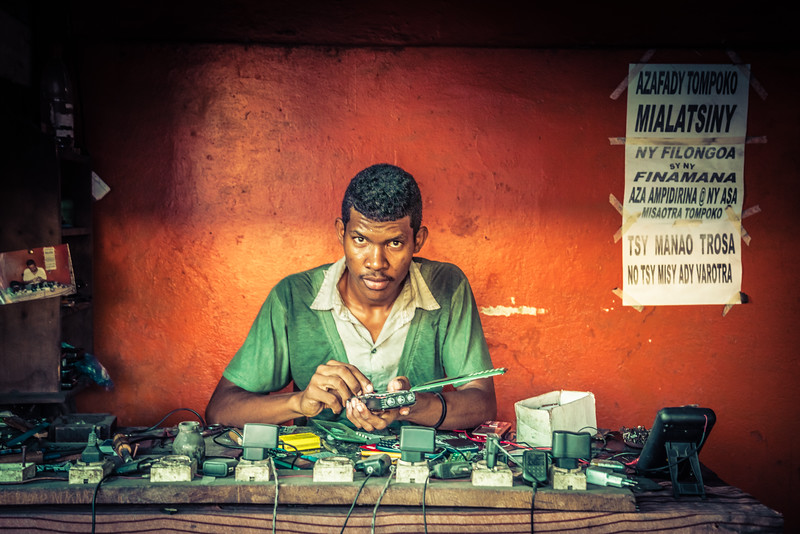 Fixing Mobile Phones in Madagascar