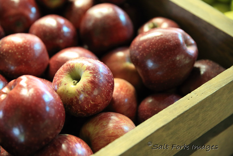 Yummm!  Red Delicious apples at Skytop Orchard in Saluda, NC
