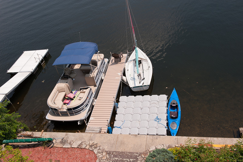 New Dock from the first floor deck.  Three 4' x 8' sections from Pier of d'Nort.