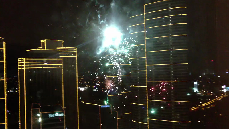 Fireworks at Rockwell from Rizal Tower 33rd Floor