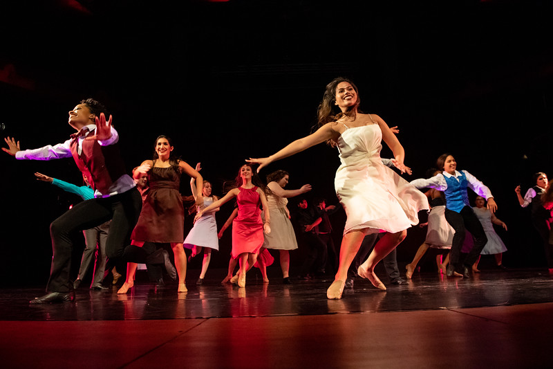 """""""The Time is Now,"""" choreographed by Jilissa Cotten, was performed by Jazz Dance I in the fall 2018 Island Dance Demo."""