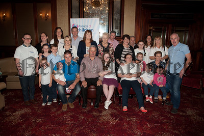 Pictured are parents along with Prince's and Princess'es at the launch of the 16th Annual Friends of the Children Gala Ball to be held in the Canal Court Hotel on the 25th September. R1537001