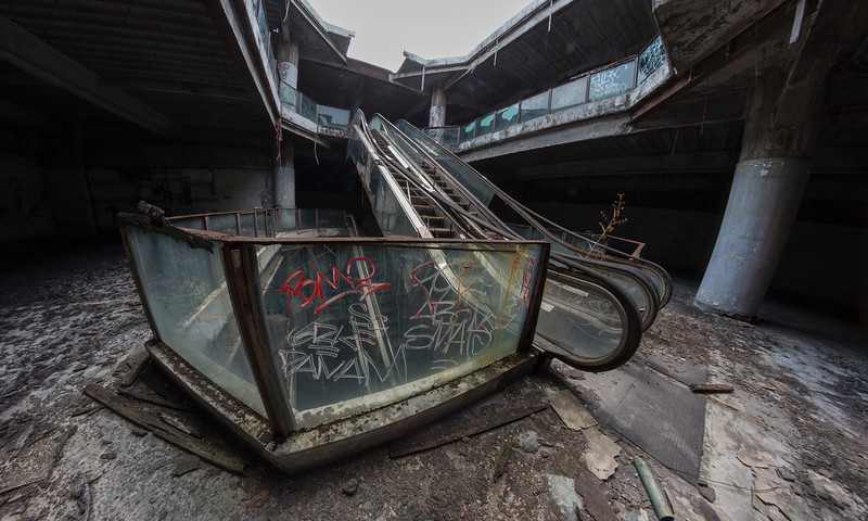 at the abandoned New World Mall, Bangkok, Thailand