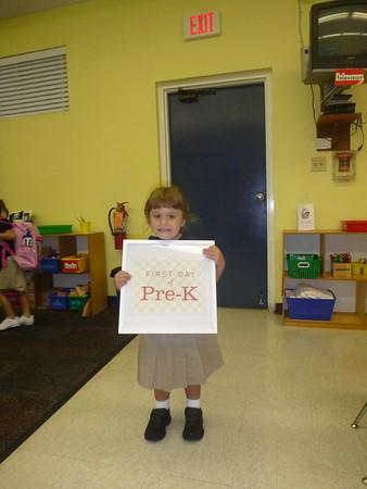 First Week Of PreK 2012-2013