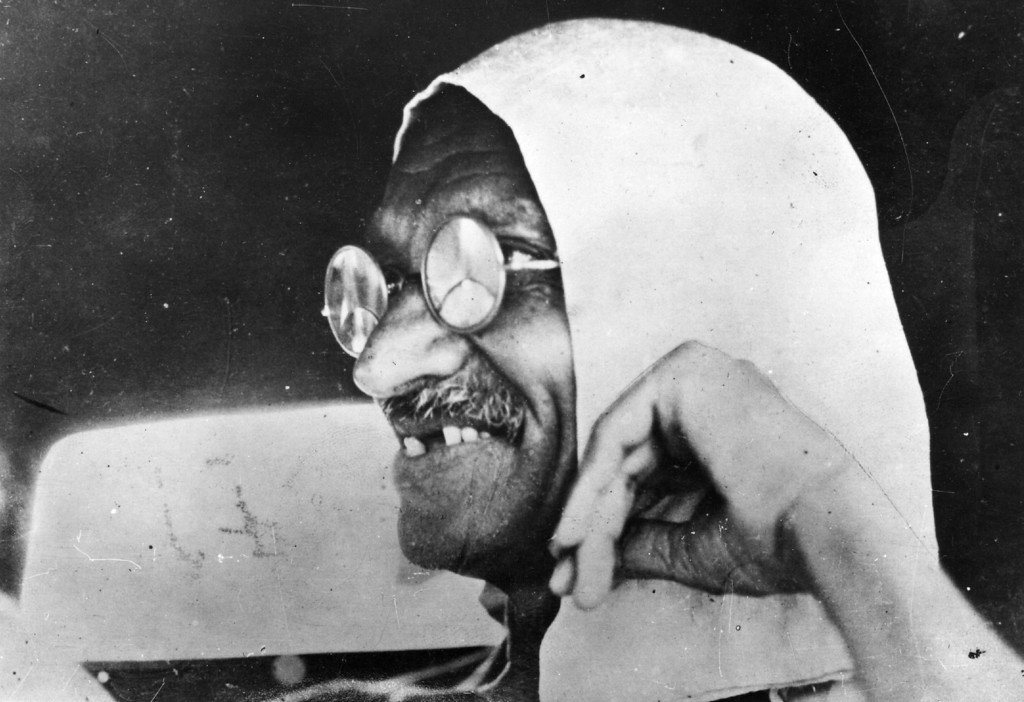 . Mahatma Gandhi (Mohandas Karamchand Gandhi, 1869 - 1948), Indian nationalist leader, circa 1945.  (Photo by Keystone/Getty Images)